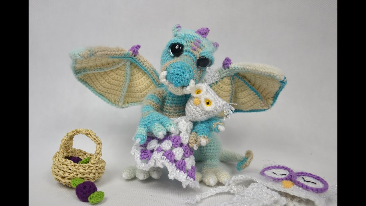 Amigurumi Baby Dragon : Amigurumi crochet presentation lunaryo baby dragon smok youtube
