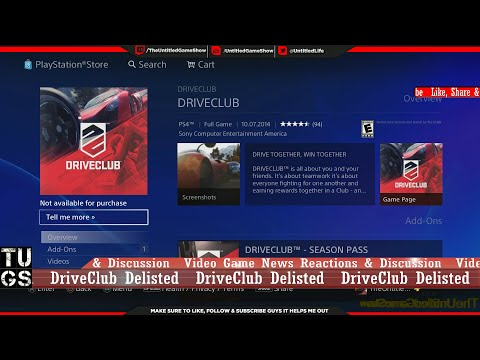 DriveClub Not Available for Purchase