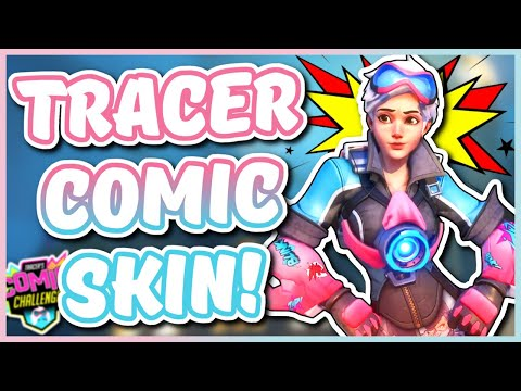 Overwatch - NEW TRACER SKIN CHALLENGE (Tracer Comic Skin)
