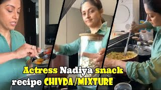 South Indian Actress Nadhiya&#39s Family favorite Snack Recipe Chivda  Mixture  Celebrity Mirror