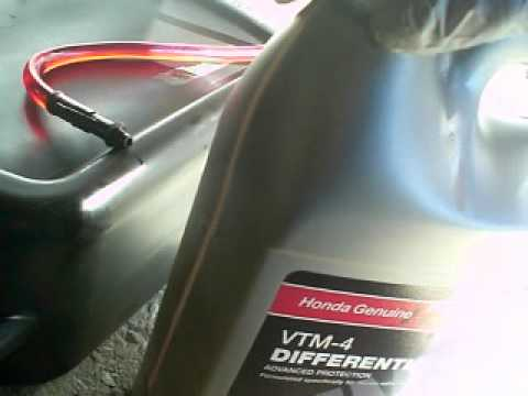 Rear Differential Fluid Change >> How to change differential fluid on Honda Pilot 08 - YouTube