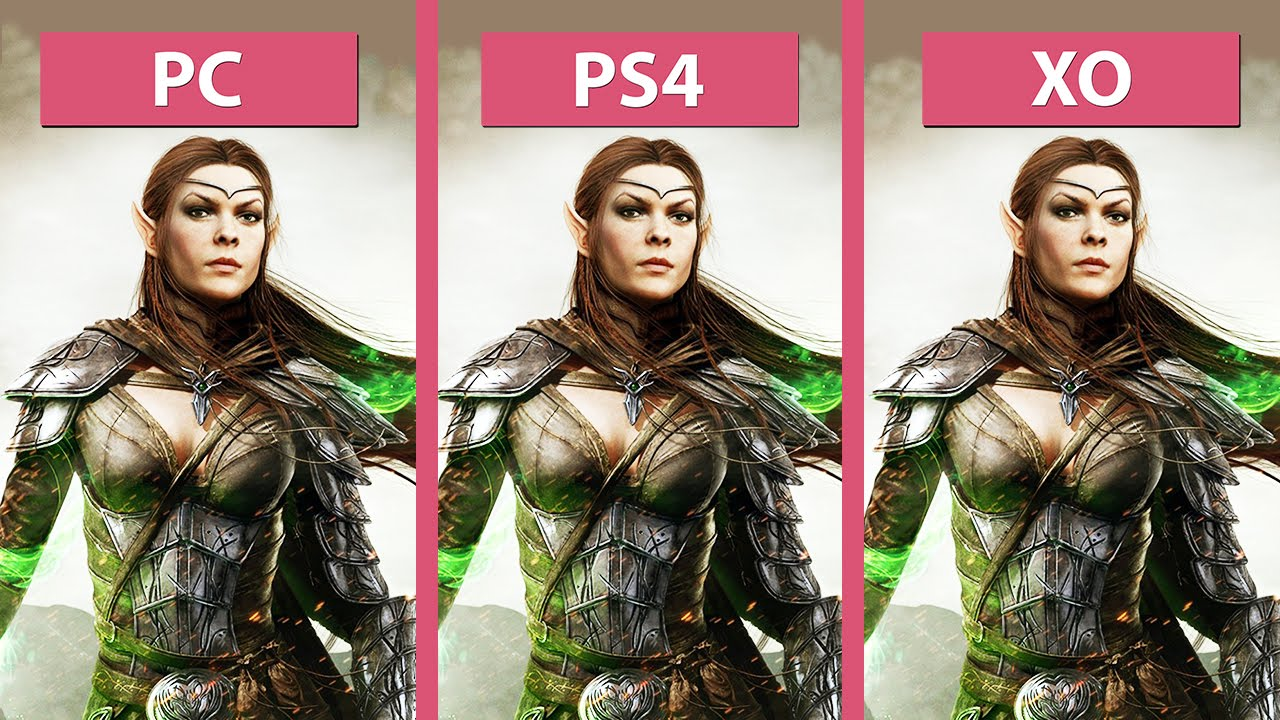 The Elder Scrolls Online – PC vs  PS4 vs  Xbox One Graphics Comparison  [60fps][FullHD]