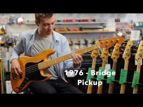 Fender 75 Reissue Jazz vs 1976 Jazz at Bass Direct UK