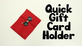 Easy Felt Give card holder