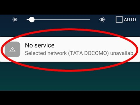 How To Fix No Service-Selected Network Unavailable Error In Android|Tablets