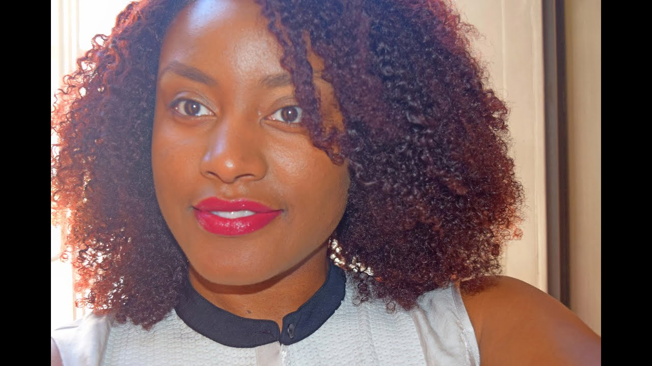Natural Hair Tutorial Loral Chroma True Reds Hair Color Youtube