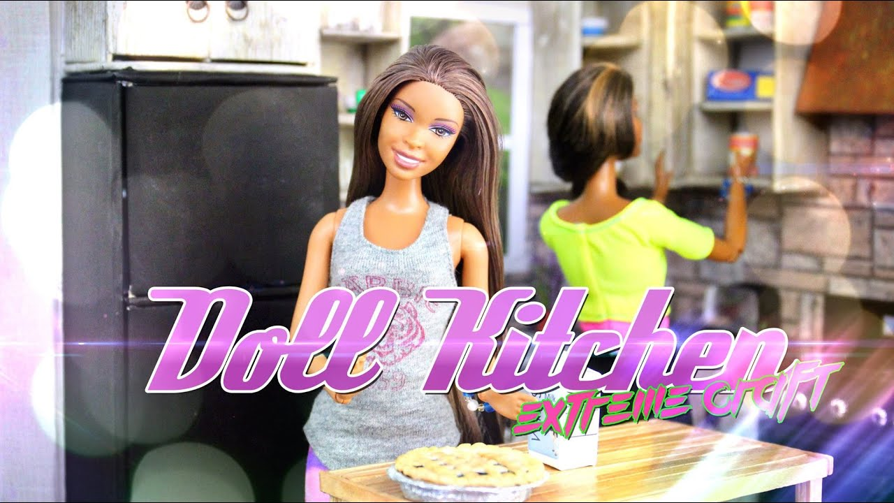 DIY - How to Make: Doll Room in a Box: Kitchen - EXTREME ...