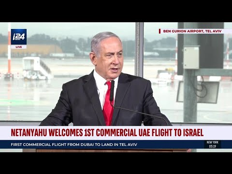 Netanyahu Welcomes First Commercial Dubai Flight To Israel