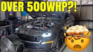 homepage tile video photo for 2018 Mustang GT with Headers/Intake/E85 *Shocking Dyno Results*