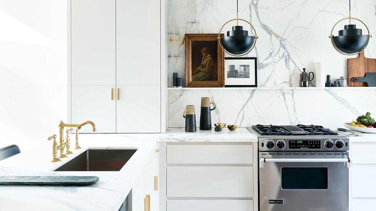 Kitchen Makeover: 90s Kitchen Gets A Glamorous Update - YouTube on kitchen updating tips, master bath update ideas, fireplace update ideas, kitchen cabinets with white walls, home update ideas, kitchen countertops on budget, basement update ideas, cabinet update ideas, horse update ideas, living room update ideas, kitchen updates before and after, shower update ideas, closet update ideas, kitchen with coffered ceiling, new roof ideas, master bedroom update ideas,