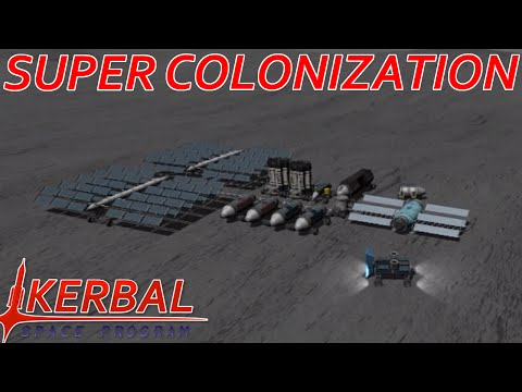 [10] Super Base Construction | Modded KSP : Super Colonization