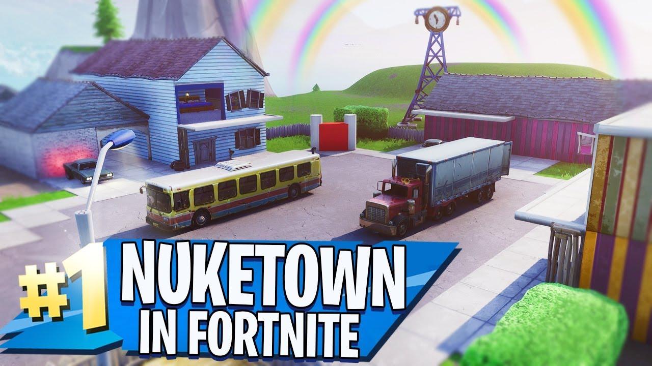 nuketown in fortnite creative mode - nuketown fortnite map
