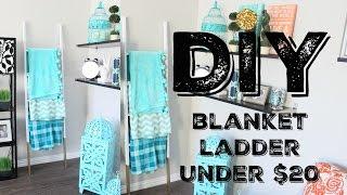 DIY Blanket Ladder + Multi-use {Less than $20}