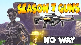 Dumb Scammer Has *NEW* SEASON 7 GUNS!! (Scammer Gets Scammed) Fortnite Save The World