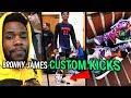 We Made Custom Kicks For BRONNY & BRYCE JAMES! LeBron