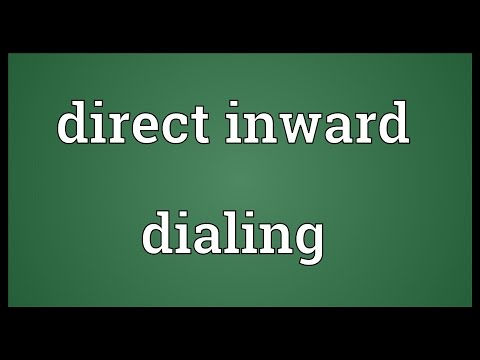 Direct inward dialing Meaning