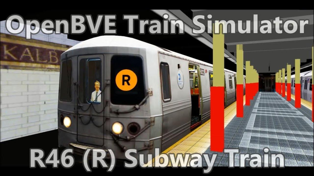OpenBVE ▻R Train via 6th Avenue to Dekalb Av!◁ (R46) Free Download