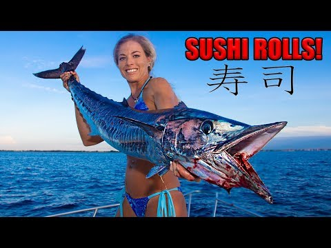 BEST RAW Fish Ever! WAHOO Homemade Sushi Catch Clean Cook