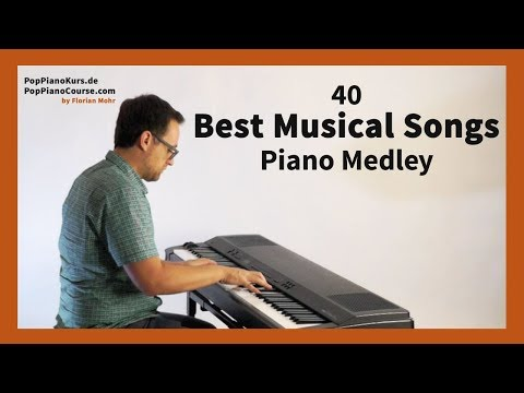 40 Best Musical Songs Piano Medley: The Most Popular Music of Broadway & other famous Musicals