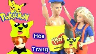 Playdough Halloween Costume Pokemon / Hóa Trang Pokemon Váy Bí Đỏ Halloween Cho Gia Đình Barbie