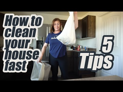 Five Tips To Get Your House Clean FAST When It's A Disaster | Speed Cleaning Timelapse