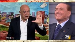 Copertina di Crozza: Berlusconi vota come Travaglio, è come vedere Marchionne che limona con Landini