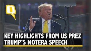 'Everybody Loves PM Modi': Highlights From Donald Trump's Speech at Motera Stadium