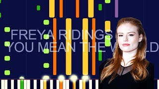"Freya Ridings - YOU MEAN THE WORLD TO ME (PRO MIDI REMAKE / CHORDS) - ""in the style of"""