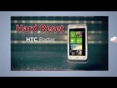 HTC Radar | Hard reset/Factory reset