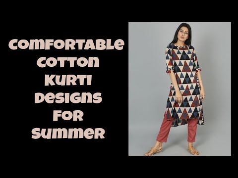 Comfortable Cotton Kurti Designs For Summer Part: 03