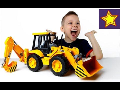 Машины Bruder Большой Экскаватор Погрузчик JCB Bruder Toys For Kids