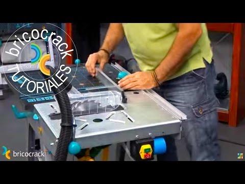Banco de trabajo para cortar y fresar bricocrack youtube for Bancos de aluminio para jardin