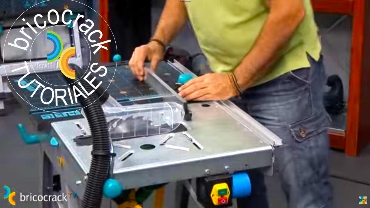 Banco de trabajo para cortar y fresar bricocrack youtube for Banco madera jardin carrefour