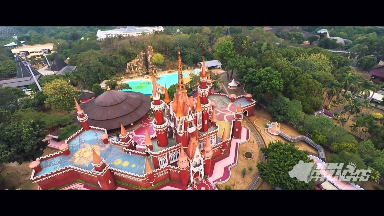 Istana Anak Anak Indonesia Taman Mini Indonesia Indah Tmii Aerial Shot