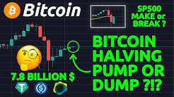 CRAZY!!! 8 BILLION USD IN STABLE COINS TO BUY BITCOIN ?!? SP500 MAKE OR BREAK POINT!!