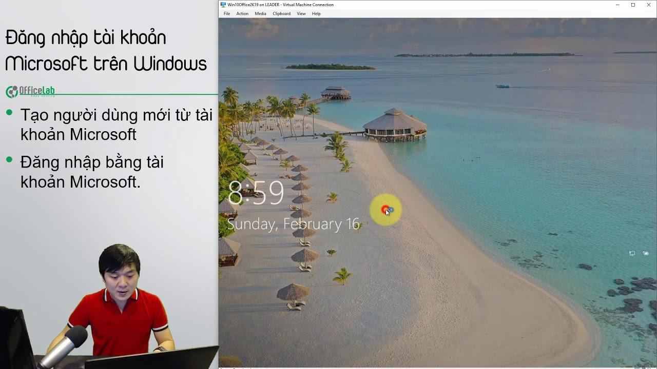 3.4. Đăng nhập Windows bằng tài khoản Microsoft