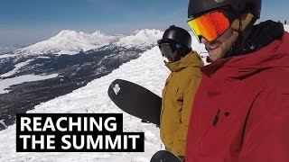 Reaching the Summit - Snowboarding Mt Bachelor