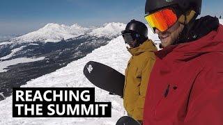 Reaching the Summit - Snowboarding Mt Bachelor