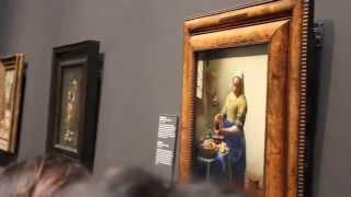 The Milkmaid by Johannes Vermeer, c. 1660 - Amsterdam July 2014