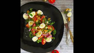Салат с фасолью яйцами и сыром рецепт приготування в описах