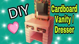DIY: Cardboard Furniture: Vanity: Cardboard Dressing Table: how to make: