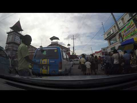 Guyana Parliment, Bus Park, Stabroek Market, Republic Bank, GBTI - Water St Drive Through in 4K