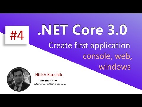 (#4) Create first application in .NET Core 3.0 | .NET Core 3.0 tutorial thumbnail