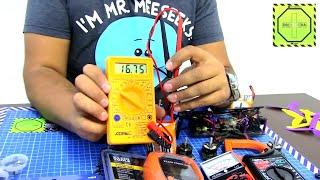 Cómo usar el multímetro; Voltaje, Polaridad y Continuidad  DRONEPEDIA