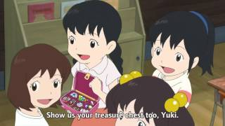 """Scene from the movie """"Wolf Children Ame and Yuki."""" How many strong,..."""