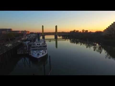 4K DJI INSPIRE 1 Footage in Old Town Sacramento