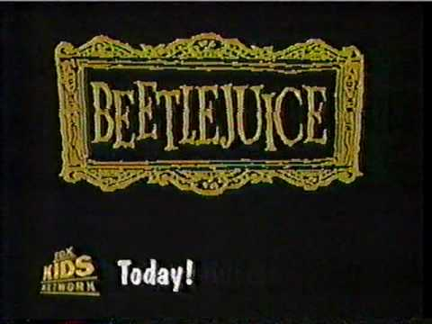 Beetlejuice Animated Fox Kids Commercial