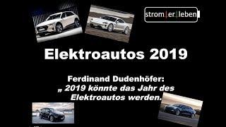 Überblick der Elektroautos 2019