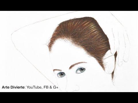Cómo dibujar cabello con lápices de colores - Narrado