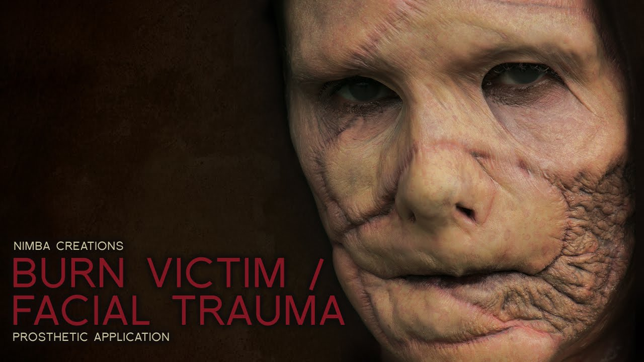 Burn Victim Facial Trauma Makeup Fx Prosthetic Tutorial
